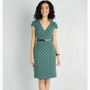 Modcloth Peace and Client Dress in Dots